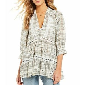 Free People Tiered Oversized Time Out Tunic Top